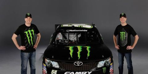 Brothers Kyle and Kurt Busch will drive the No. 54 Monster Energy Toyota Camry in the NASCAR Nationwide Series this season.