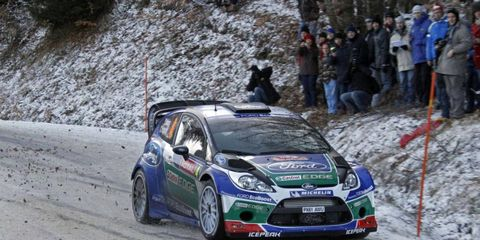 Petter Solberg held onto third place after three rounds of the World Rally Championship season-opening event in Monte Carlo.