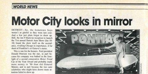 Text, Automotive exterior, Newsprint, Publication, News, Advertising, Paper, Classic car, Bumper, Paper product,