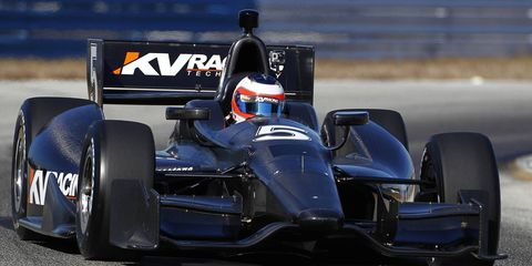 Grand Prix racer Rubens Barrichello is testing an Indy car on Monday and Tuesday for KV Racing Technology at Florida's Sebring International Raceway.