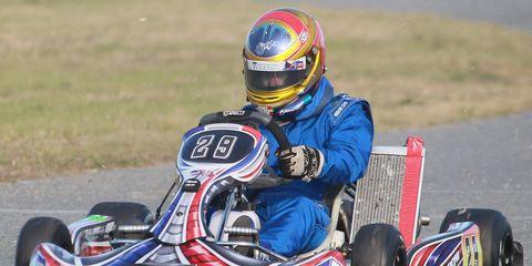 A.J. Allmendinger spent time in December racing go-karts at Daytona, Fla.