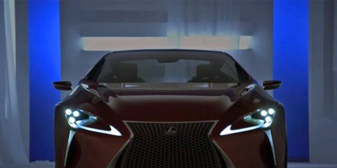 The all-new Lexus LF-LC 2+2 hybrid sport coupe.