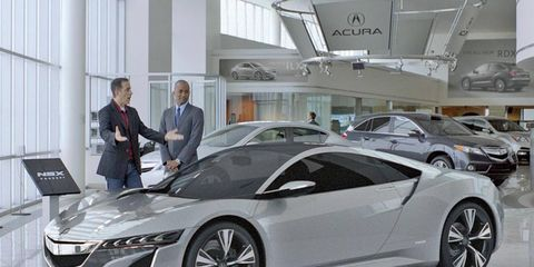 Jerry Seinfeld will do <i>anything</i> to get the first 2015 Acura NSX.