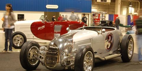 The SoCal V8 Indy Roadster won the 2012 AMBR award at the Grand National Roadster Show on Sunday.