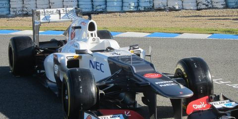 Sauber's C31 is ready for testing.