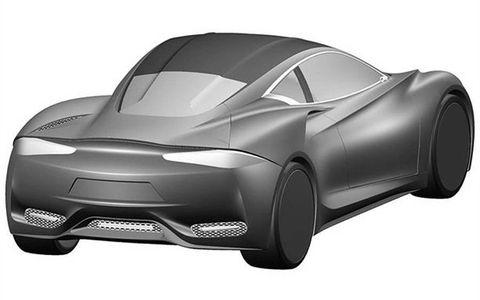 A rear view of the Infiniti Emerg-E concept.