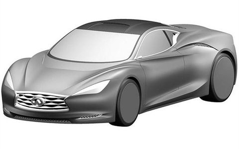 A front view of the Infiniti Emerg-E concept.
