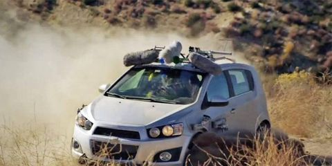 Indie band OK Go turns the new Chevy Sonic into a musical instrument.