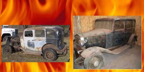 Pick your poison: a 1932 Franklin or the 1932 Chevrolet.