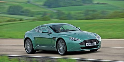 The Aston Martin Vantage gets some changes for 2012. A 2011 model is shown .