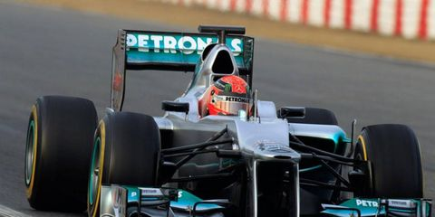 Seven-time Formula One champion Michael Schumacher says his car's speed is promising going into the season-opening race at Melbourne.