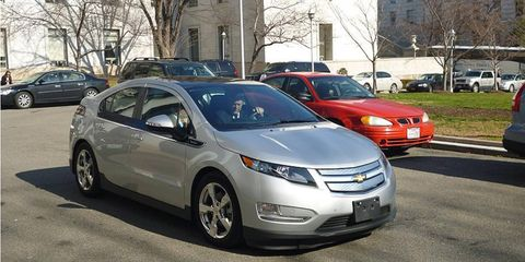 General Motors CEO Dan Akerson drove a Chevrolet Volt to his hearing on Capitol Hill on Wednesday.