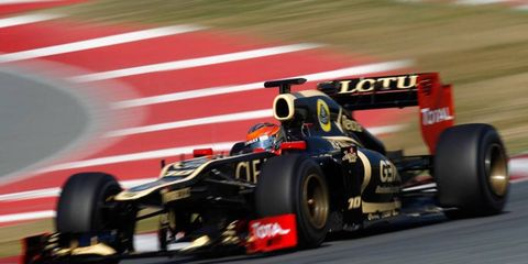 Romain Grosjean had a great day Thursday, leading the final 2012 Formula One test session in Barcelona.