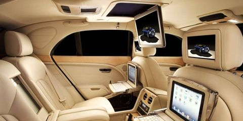 Bentley is offering a theater setup and iPads for the Mulsanne