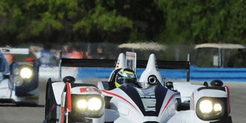 Muscle Milk Racing's Klaus Graf and Lucas Luhr won at Long Beach in 2011.