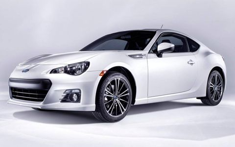 The Subaru BRZ is a rear-drive coupe.
