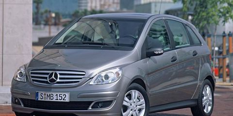 The first Denza vehicle for China will be based on the old version of the Mercedes-Benz B-class, shown.