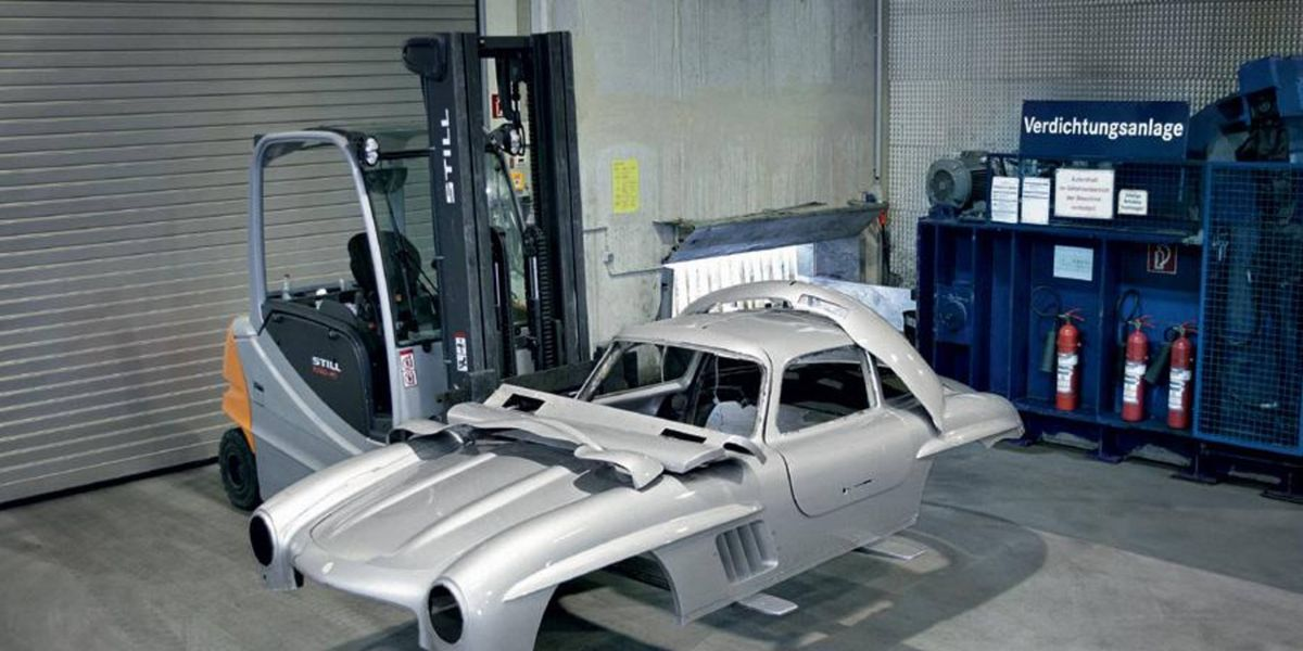 Mercedes and Daimler crush 300SL Gullwing imposter