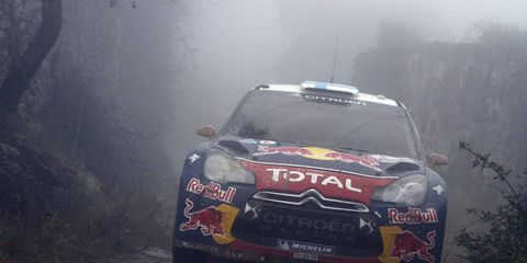 The rain couldn't stop Red Bull Racing's Mikko Hirvonen at Rally Portugal. Hirvonen was in the lead race organizers halted the rally because of rain.