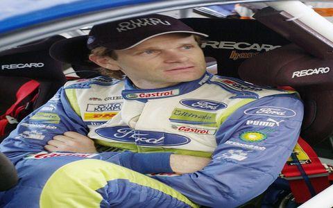 Retiring Ford driver Marcus Groenholm.