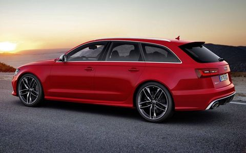 The Audi RS6 has all-wheel drive and a twin-turbo V8 that cranks out 552 hp.