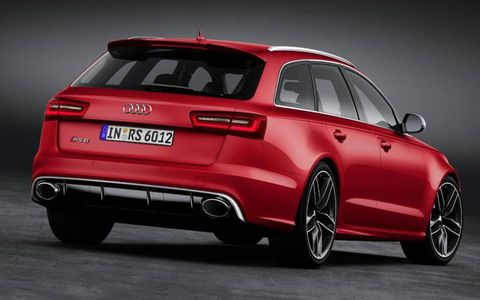 The Audi RS6 Avant packs a twin-turbo V8.