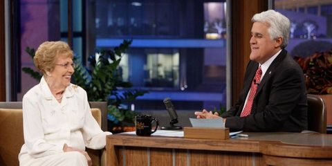 Rachel Veitch talks cars during a 2010 appearance on <i>The Tonight Show with Jay Leno.</i>