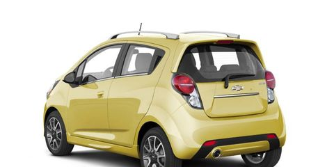 Chevy showed the 2013 Spark at the New York auto show.