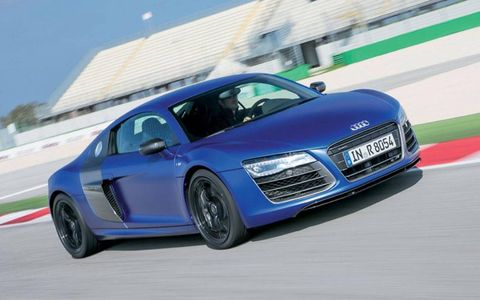 Buyers can get into an 2014 Audi R8 V10 Plus starting at $182,595.
