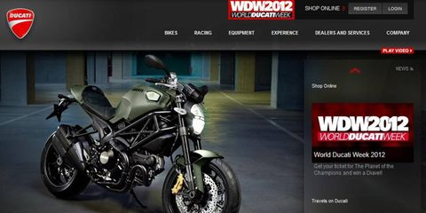 Ducati's lineup includes the Monster.