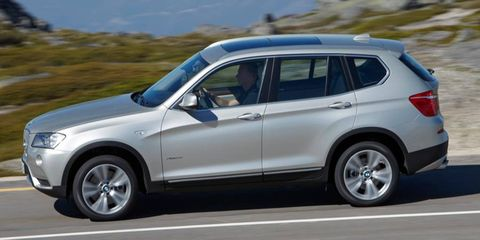 The 3.0-liter I6 in the 2012 BMW X3 xDrive 28i is rated at 240 hp.