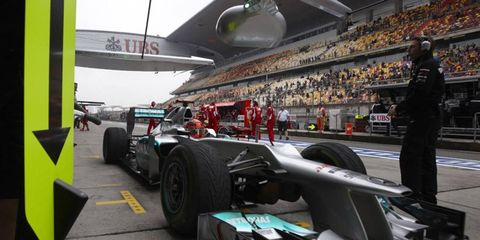 Michael Schumacher drove well in qualifying but was not expecting Mercedes to take the pole in Shanghai.