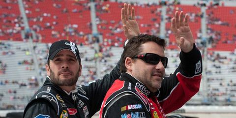 Reigning Sprint Cup champion Tony Stewart, right, and Jimmie Johnson have been invited to celebrate NASCAR at the White House with President Barack Obama on April 17.