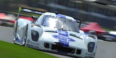 Enzo Potolicchio and Ryan Dalziel benefited from being at the top of the Grand-Am standings on Saturday. When qualifying was canceled because of rain, the pair were awarded the pole for Sunday's race.