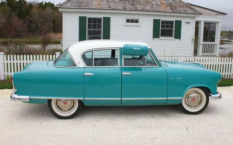 Like other Nash offerings, the 1955 Rambler Custom Super sedan focused on economy, safety, practicality and style in equal measures. The result is a pleasantly balanced vehicle.
