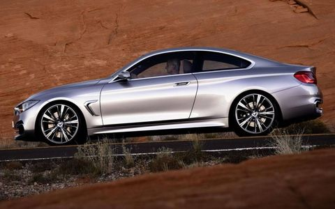 BMW will debut the BMW 4-series coupe concept at the Detroit auto show in January.