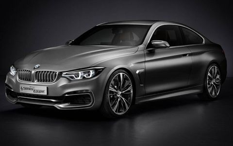 A front view of the BMW 4-series coupe concept.