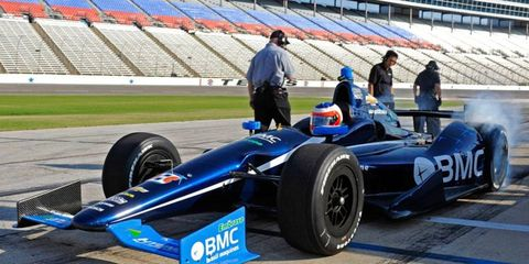 Former Formula One star Rubens Barrichello said on Monday that he hasn't driven his best yet in the IndyCar Series, partly because everything is still so new.