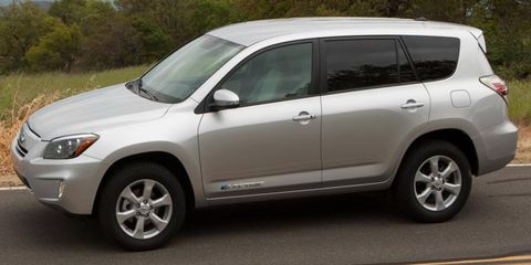 The Toyota RAV4 EV uses a battery pack supplied by Tesla.