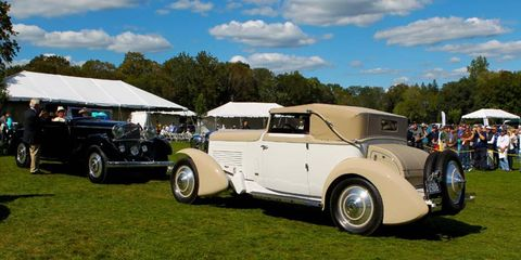 The Grand Prix winners at the 2011 Fairfield County Concours d'Elegance were a 1926 Hispano-Suiza H6B and a 1929 Stutz M-8.