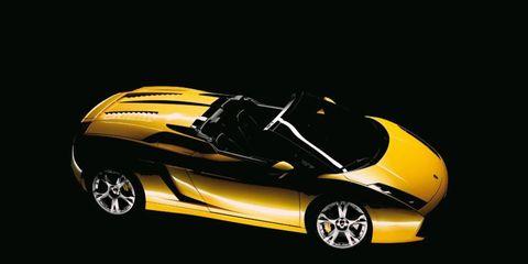 This yellow 2008 Lamborghini Gallardo spyder is similar to Guy Fieri's.