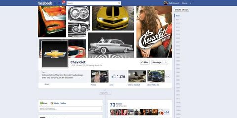General Motors will continue to maintain pages for its brands on Facebook.