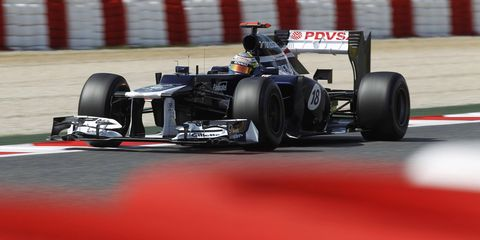 Although he wasn't expecting it, Pastor Maldonado will be starting Sunday's F1 race from the pole position.