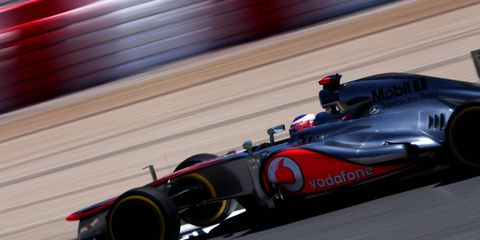 Jenson Button was the fastest car on the track for Formula One practice on Friday, but he still seemed to have trouble with his tires.