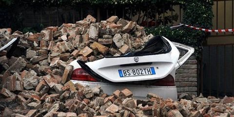 Northern Italy was rocked by an earthquake and aftershocks on Tuesday.