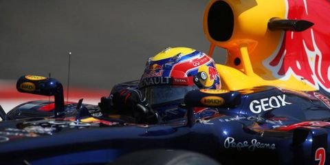 Red Bull Racing's Mark Webber is on the pole for Sunday's Monaco Grand Prix.