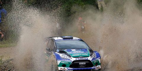 Ford factory driver Jari-Matti Latvala leads after the first day of the four-day Acropolis Rally in Greece.