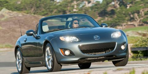 The new roadster being developed by Mazda and Fiat will be based on the MX-5 Miata, shown.