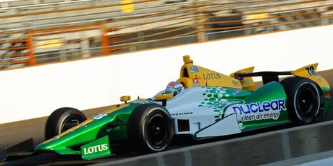 Simona De Silvestro will start 32nd in the Indianapolis 500 on Sunday.