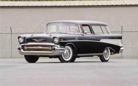 Restored in the 1980s, this rare 1957 Chevrolet Nomad is one of less than 100 factory equipped with a fuel injection system
